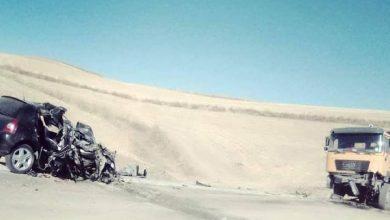 صورة ميلة: هلاك 04 أشخاص في حادث مرور ببوحاتم