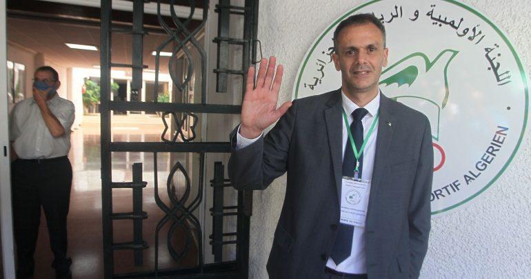صورة عبد الرحمان حماد رئيسا للجنة الأولمبية
