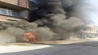 صورة إصابة 3 أشخاص وخسائر مادية بعد اندلاع حريق داخل محلات بالمسيلة