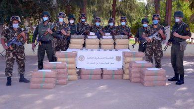 صورة الجيش يضبط أكثر من 10 قناطير من الكيف قرب حدود المغرب